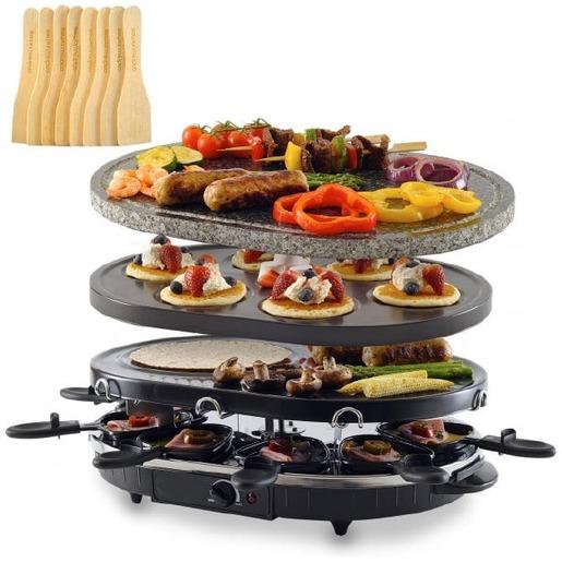 Kombi-Raclette-Grill mit Grillstein RG-S 93